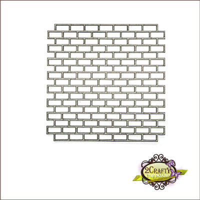 2Crafty Chipboard - Brick Panel