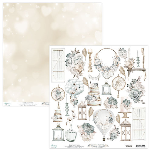Precious Moments by Mintay Paper  12 x 12 Elements Sheet