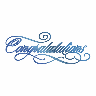 Couture Creations®Hotfoil Stamp - Congratulations
