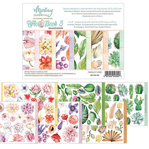 Flora Book 5 by Mintay Papers - 6 x 8