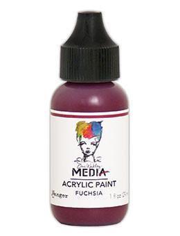 Dina Wakley® Media Acrylic Paint 1oz - Fuchsia