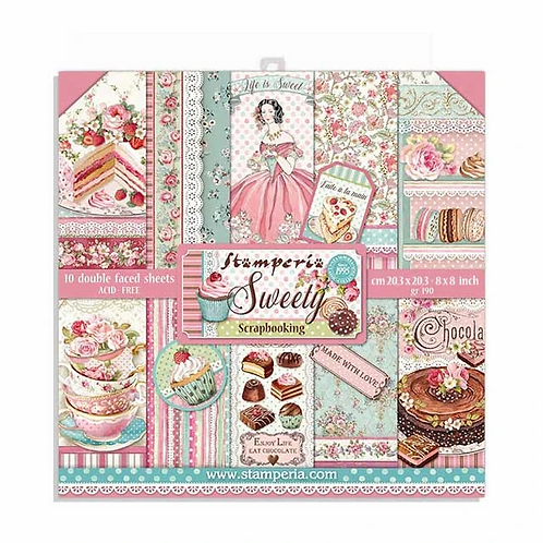 Stamperia® 8 x 8 Paper Pad - Sweety
