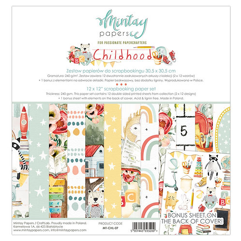 Childhood 12 x 12 Paper Collection by Mintay Papers