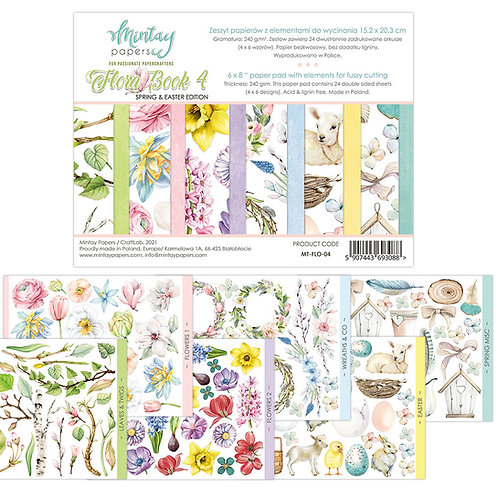 Flora Book 4 by Mintay Papers - 6 x 8 - Spring & Easter Edition