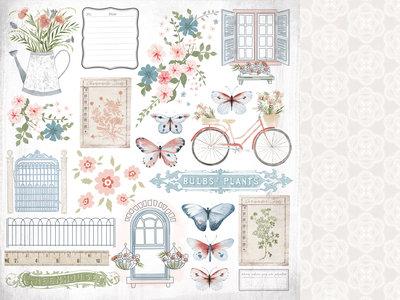 Kaisercraft® Flower Shoppe 12x12 Scrapbook Paper - Full Bloom