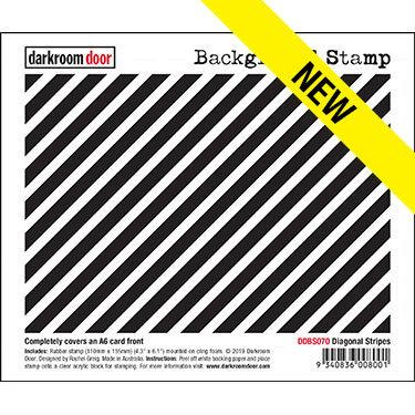 Darkroom Door Background Stamp - Diagonal Stripe