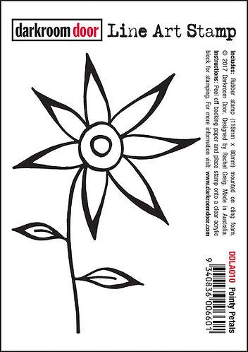 Darkroom Door Line Art Stamp - Pointy Petals