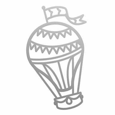 Couture Creations®Mini Die- Air Balloon