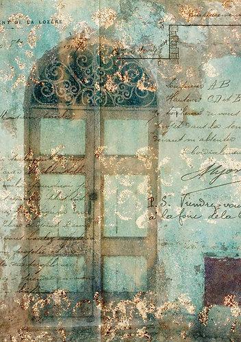 Decoupage Queen® Decoupage Paper - Antique Door with Scrollwork