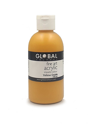 Global Artist Acrylic - Yellow Oxide - 250ml