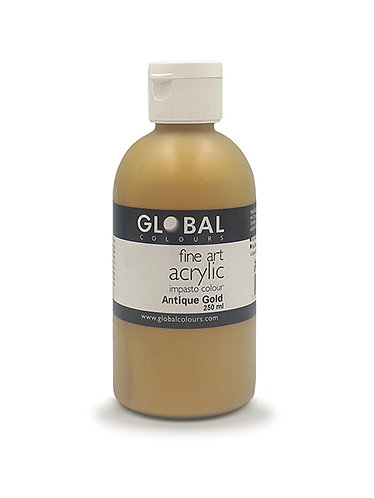 Global Artist Acrylic -  Antique Gold - 250ml