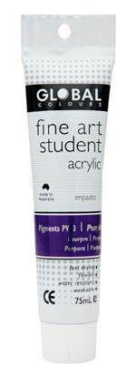 Global fine art student acrylic 75ml - Purple