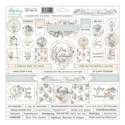 Precious Moments by Mintay Paper  12 x 12 Chipboard Stickers