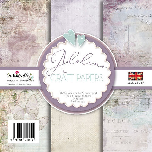 Polkadoodles® Adalene 6x6 Vintage Shabby Chic Papers