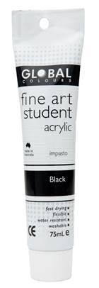 Global fine art student acrylic 75ml - Black