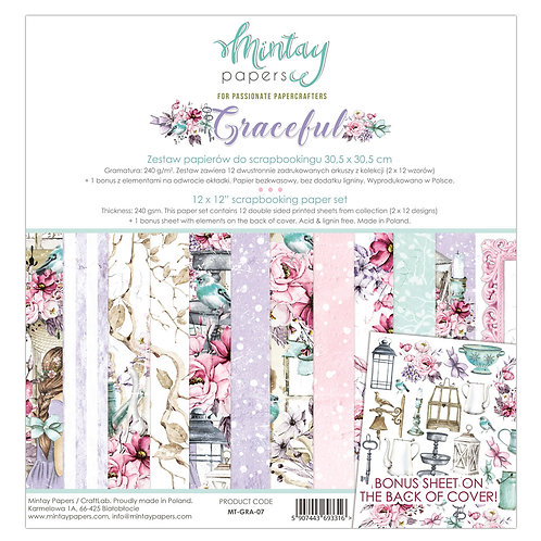 Graceful 12 x 12 Paper Collection by Mintay Papers