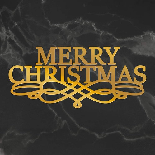 Hotfoil Stamp - Naughty or Nice - Merry Christmas Scroll