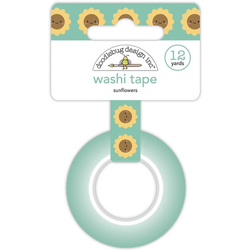 Doodlebug Washi Tape 15mmX12yd - Sunflower