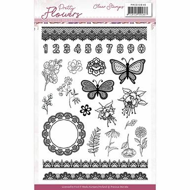 Clear Stamps - Precious Marieke - Pretty Flowers