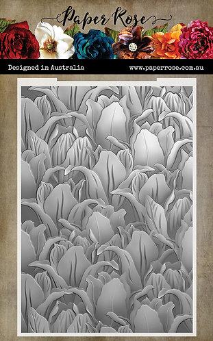 Paper Rose 3d Embossing Folder - Tulips