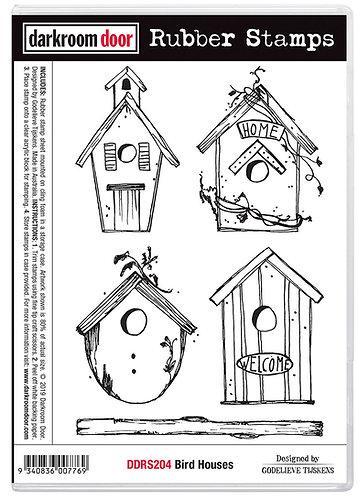 Darkroom Door Rubber Stamp - Bird Houses