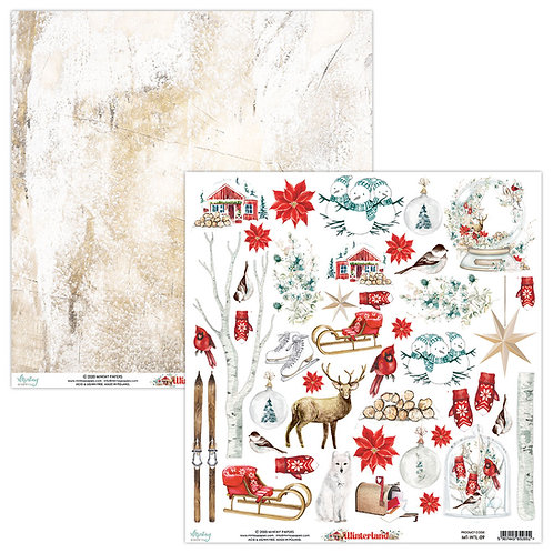 Winterland by Mintay Papers - 12 x 12 - Elements Sheet