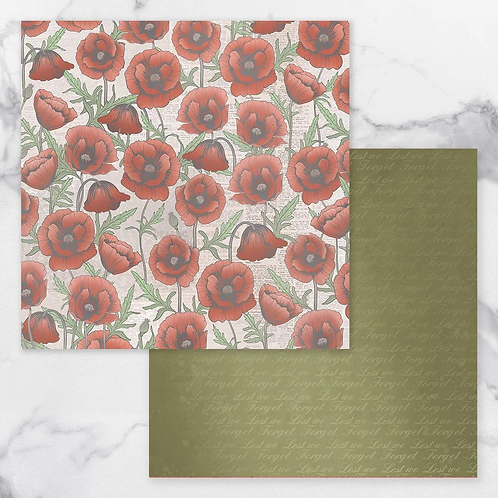 Lest We Forget Double Sided Paper 7 - 12x12