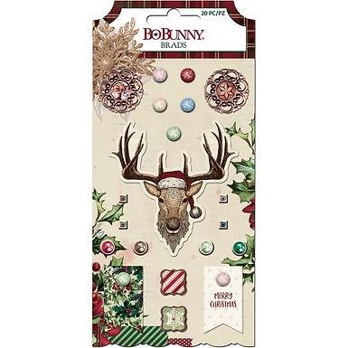 Bo Bunny® Brads - Christmas Treasure