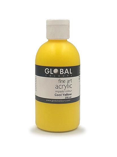 Global Artist Acrylic - Cool Yellow - 250ml