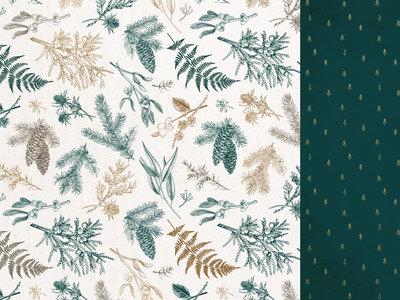 Emerald Eve 12x12 Scrapbook Paper - CHRISTMAS PINE