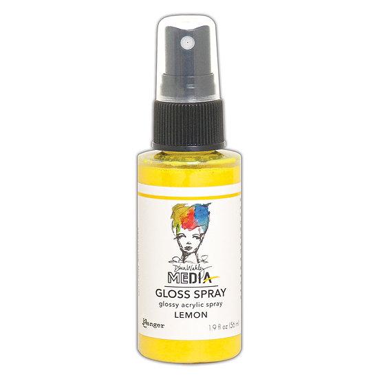 Dina Wakley Media Gloss Spray -Lemon