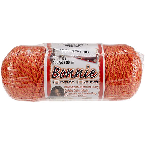 Pepperell-Bonnie Macrame Neon Craft Cord - Tangerine