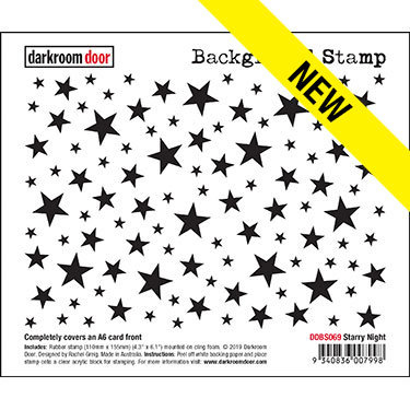 Darkroom Door Background Stamp - Starry Night