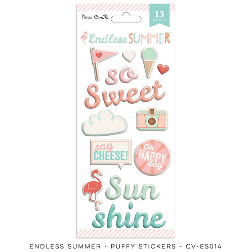 Cocoa Vanilla® Endless Summer Puffy Stickers