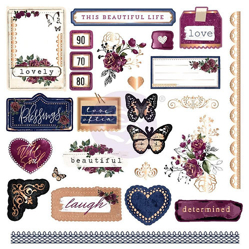 Darcelle Ephemera and Stickers by Prima®
