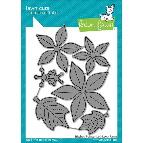 Lawn Cuts Custom Craft Die - Stitched Poinsettia by Lawn Fawn