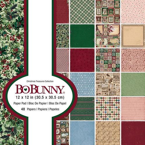 Bo Bunny® Christmas Treasures Paper Pad 12 x 12