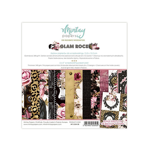 Glam Rock 6 x 6 Paper Collection by Mintay Papers