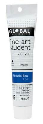 Global fine art student acrylic 75ml - Pthalo Blue