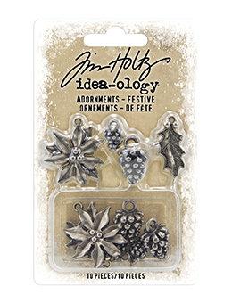 Tim Holtz Idea-ology® Adornments - Festive