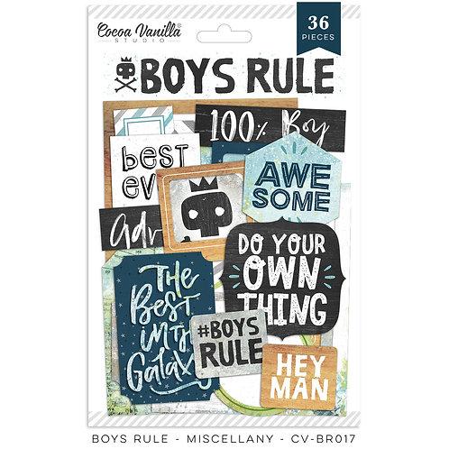 Cocoa Vanilla® Boys Rule - Miscellany