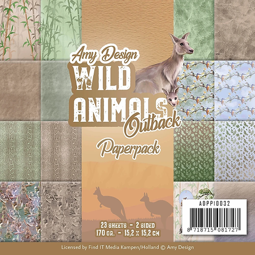 Wild Animals Outback by Amy Design 6 x 6 Paperpack