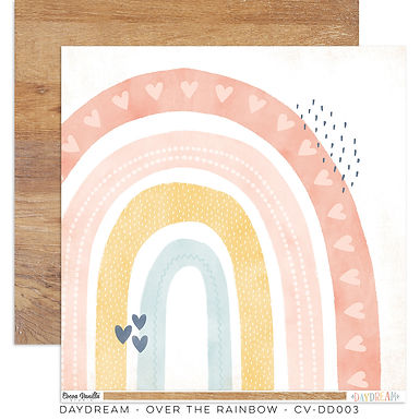 Cocoa Vanilla® Daydream - 12 x 12 Paper - Over The Rainbow