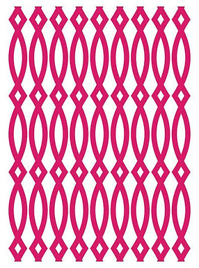 Couture Creations Embossing Folder - Elliptic Illusion