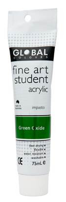 Global fine art student acrylic 75ml - Green Oxide