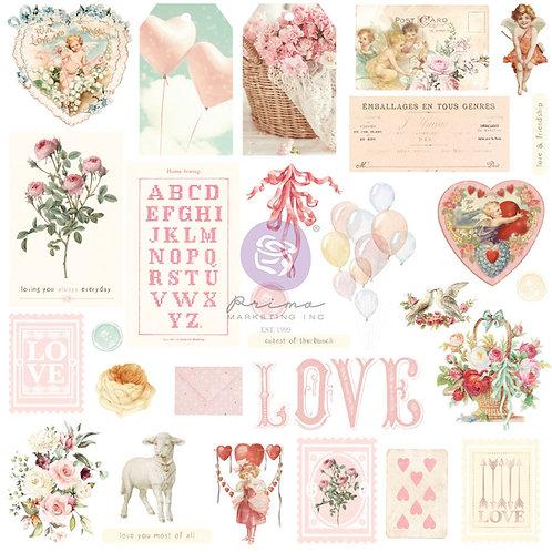 Magic Love Collection Ephemera – 29 pcs w/ foil details