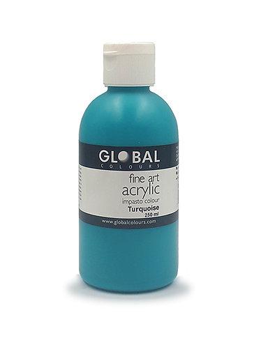 Global Artist Acrylic - Turquoise - 250ml