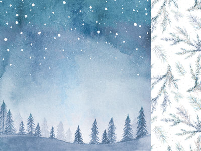Kaisercraft® Whimsy Wishes Night Sky 12x12 paper
