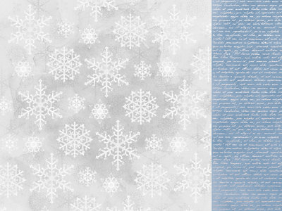 Kaisercraft® Whimsy Wishes Snowfall 12x12 paper