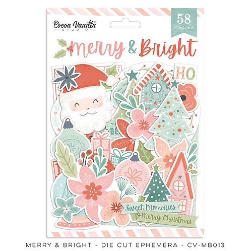Cocoa Vanilla® Merry & Bright Die Cut Ephemera